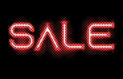 Red Sale Neon Glow Light Sign royalty free illustration