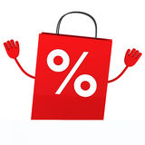 Red sale percent bag wave Stock Photos