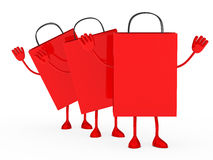 Red sale percent bags wave Royalty Free Stock Photos