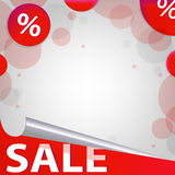 Red Sale Poster Royalty Free Stock Photography