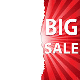 Red Sale Poster royalty free illustration