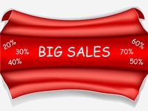 Red sale poster - big sale Stock Images
