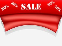 Red sale poster Stock Photography