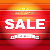 Red Sale Poster With Text Royalty Free Stock Images