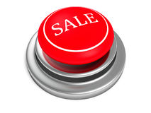 Red sale push button on white background Royalty Free Stock Photos