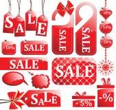 Red sale set Stock Photos