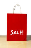 Red Sale Shopping Bag Royalty Free Stock Photo
