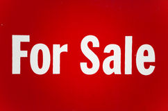 Red For Sale Sign Stock Images