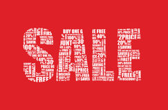 A red sale sign. Background Stock Images