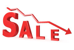 Red Sale sign Royalty Free Stock Images
