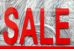Red sale sign. Stock Image