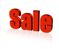 Red for sale sign Royalty Free Stock Image