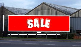 Red sale sign Stock Photography