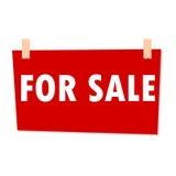 Red For Sale Sign - illustration stock illustration