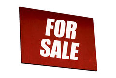 Red for sale sign Royalty Free Stock Photos