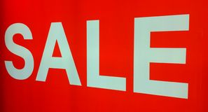 Red Sale Sign Royalty Free Stock Photo
