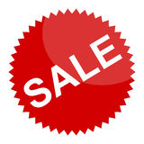 Red sale sign or sticker Stock Photography