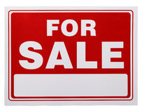 Red For Sale Sign Stock Photography