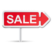 Red sale signboard Royalty Free Stock Image