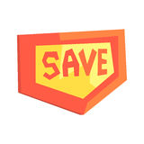 Red sale signboard, sale tag vector Illustration Stock Image
