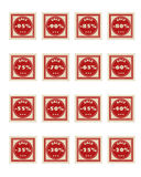 Red sale stamps Royalty Free Stock Images