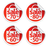Red sale sticker Royalty Free Stock Images