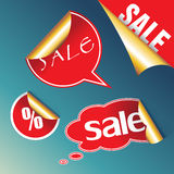 Red sale stickers. Stock Photography