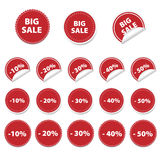 Red sale stickers. Set of red sale stickers Stock Photography