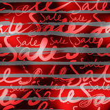 Red Sale striped background Stock Image