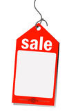 Red sale tag Royalty Free Stock Photos