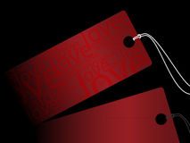 Red sale tag Royalty Free Stock Photography