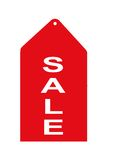 Red Sale Tag. Red retail sales tag or sign Royalty Free Stock Image