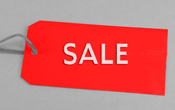Red Sale Tag Royalty Free Stock Photo