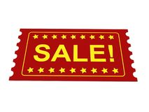 Red sale tag or ticket Royalty Free Stock Images
