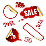 Red sale tags. Stock Photos