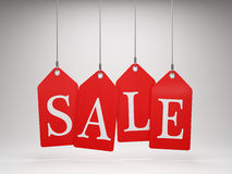 Red sale tags Royalty Free Stock Image