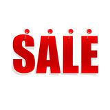 Red sale tags Royalty Free Stock Photography