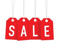 Red sale tags Royalty Free Stock Images