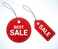 Red sale tags Stock Photos