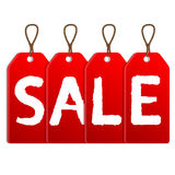 Red sale tags Royalty Free Stock Photos