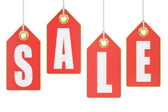 Red Sale Tags Stock Image
