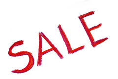 Red sale word Stock Photography