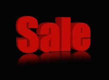 Red sale word Royalty Free Stock Photos