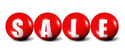 Red sale word made of spheres Royalty Free Stock Image