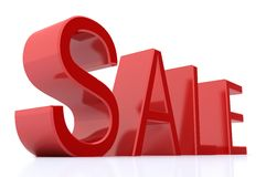 Red Sale word over white Stock Images