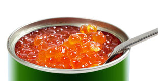 Red salmon caviar Royalty Free Stock Photos