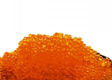 Red salmon caviar. Isolated on white background Stock Photography