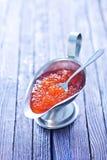 Red salmon caviar Stock Image
