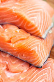 Red salmon fillet. Macro of fresh red salmon fillet Stock Images