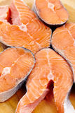 Red salmon slices Royalty Free Stock Image